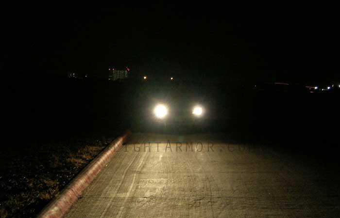 Headlight Armor Headlight Protection Film Kits At Night